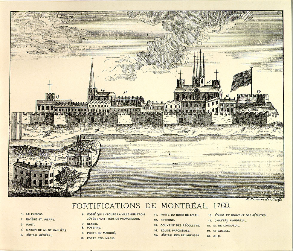 Fortifications of Montréal.
