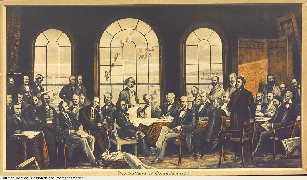 The Fathers of Confederation. - [18-]. - 1 gravure. BM7,C17,inv.1687