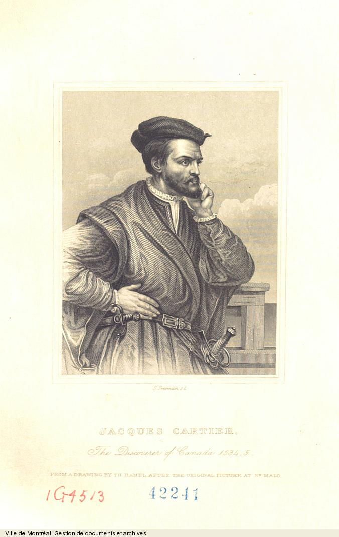 Jacques Cartier. The Discoverer of Canada 1534-5, gravure de S. Freeman, [1862]. BM7,C8,42241