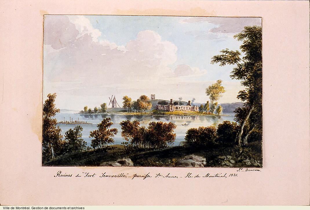 Ruines du fort de Senneville, paroisse de Ste-Anne, île de Montréal, 1831. BM99,S1,D1