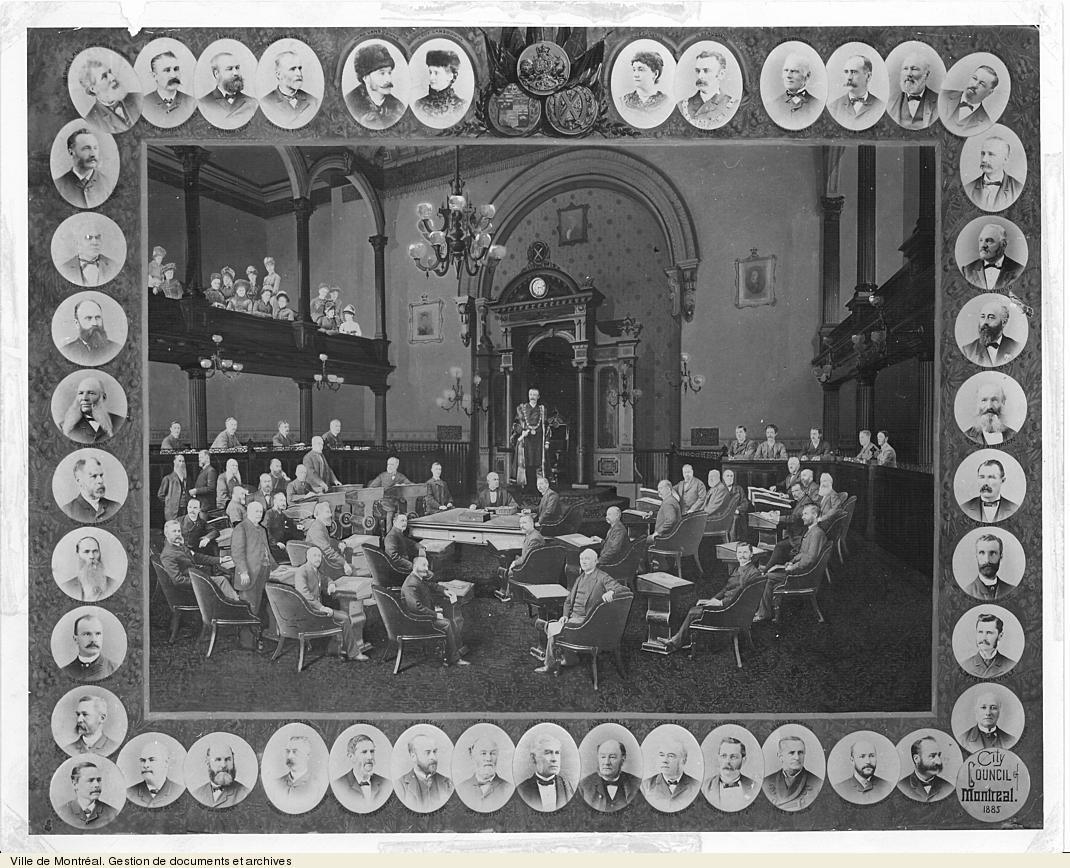 Conseil municipal de Montréal, 1885. VM6,S10,D015.22-5