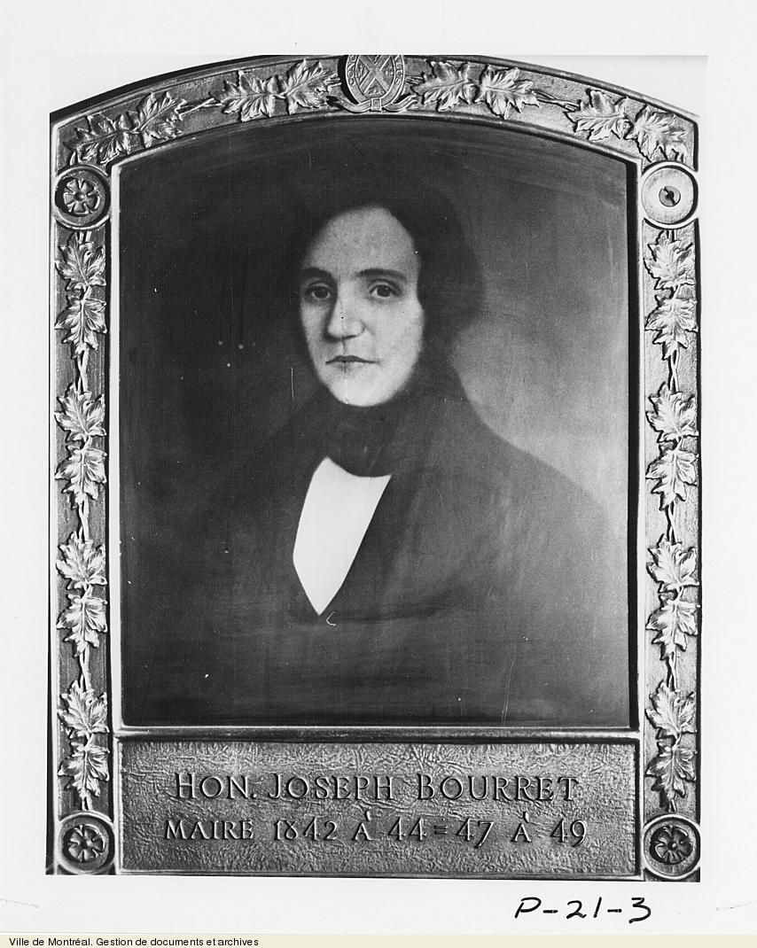 Joseph Bourret, maire de Montréal, 1842-1844, 1847-1849. vers 1930, VM6,S10,D026.3