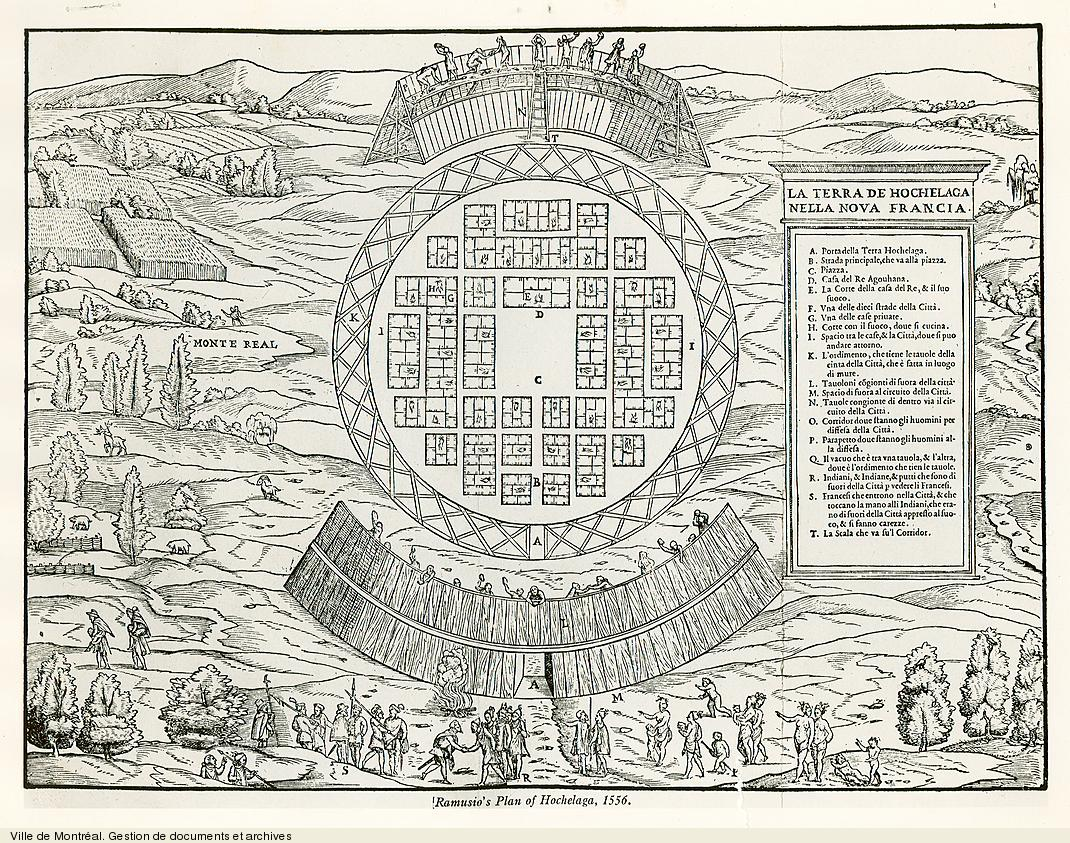 La terra de Hochelaga nella Nova Francia / Giovanni Battista Ramusio. - photo de 1970 (original créé en 1556)]. VM6,S10,D4000.3-1