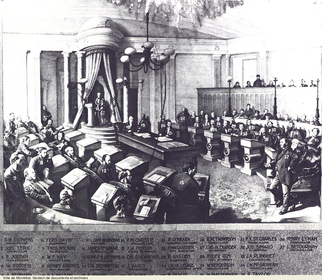 Conseil municipal de 1870. - [19-]. - 1 photographie. VM6,S10,D015.22-5
