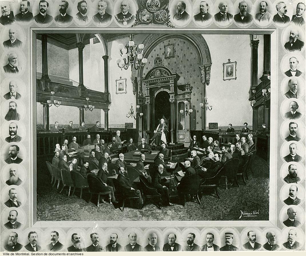 Conseil municipal / Notman and Son. - [entre 1887 et 1889]. - 1 photographie. VM6,S10,D015.22-5