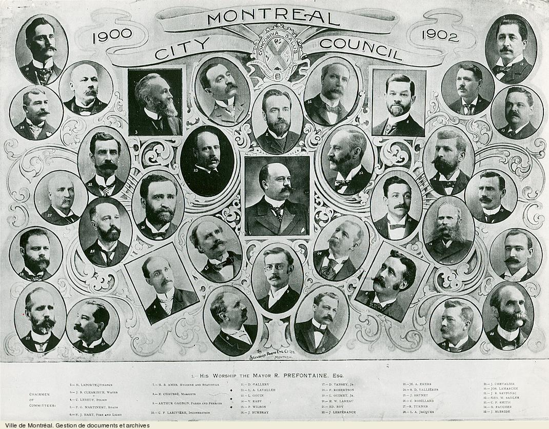 Conseil municipal de 1900 à 1902. - [19-]. - 1 photographie. VM6,S10,D015.22-5