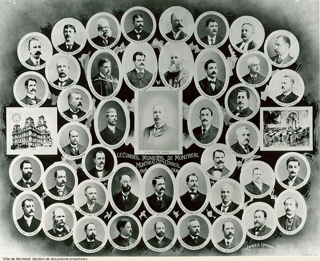 Le conseil municipal de Montréal 1906-1908. VM6,S10,D015.22-5
