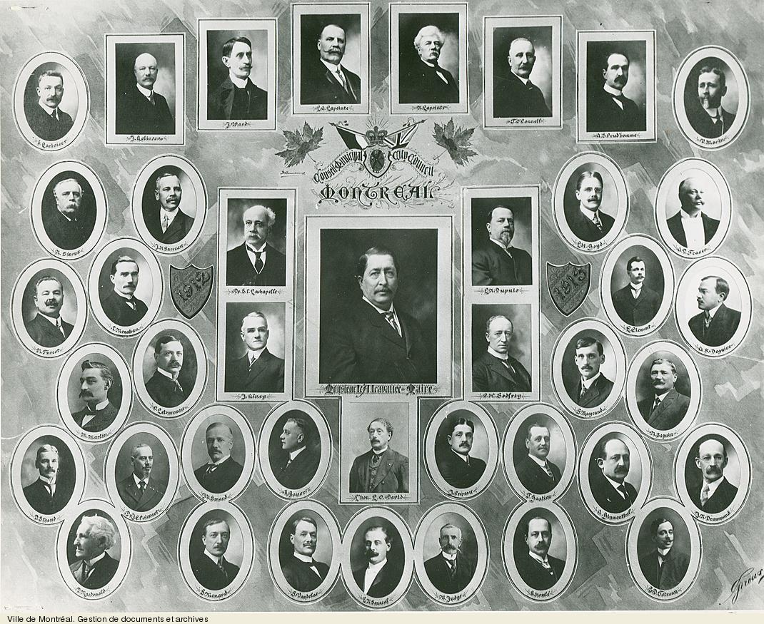 Conseil municipal de Montréal, 1912-1913 / Giroux. - [19-]. - 1 photographie. VM6,S10,D015.22-5