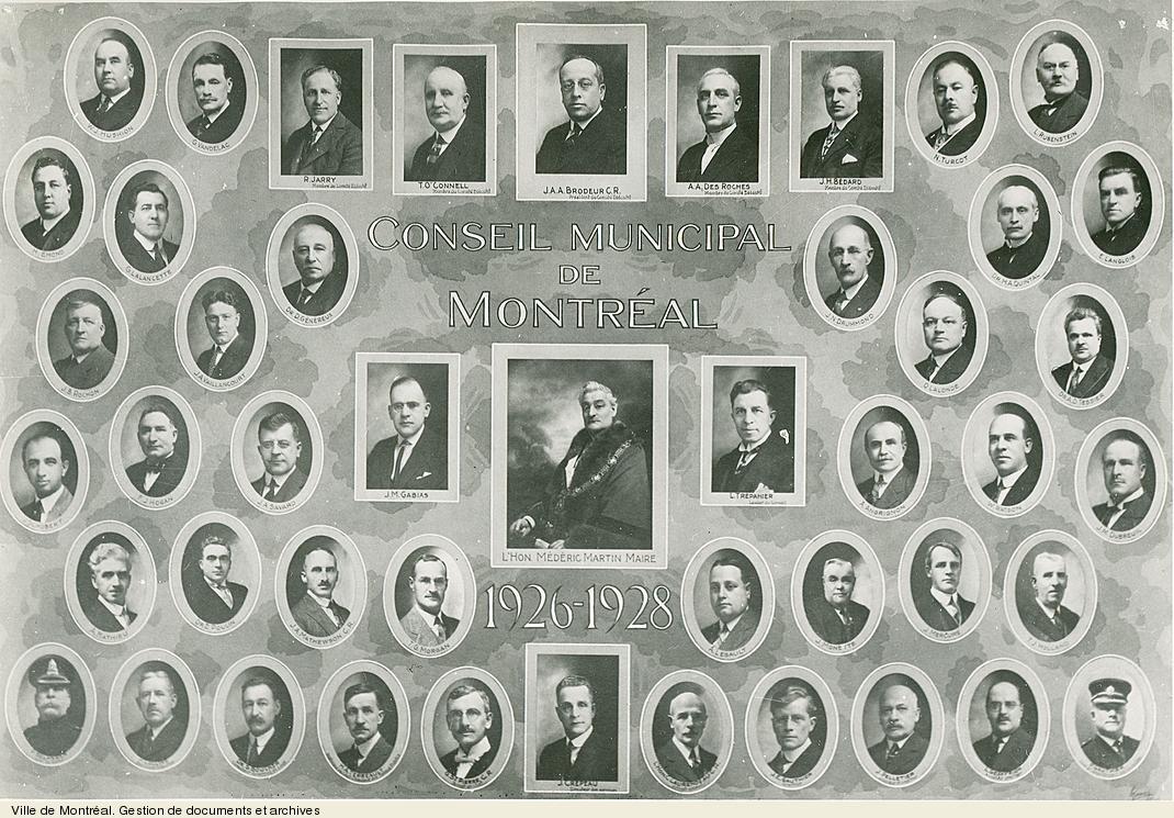 Conseil municipal de Montréal, 1926-1928. - [19-]. - 1 photographie. VM6,S10,D015.22-5