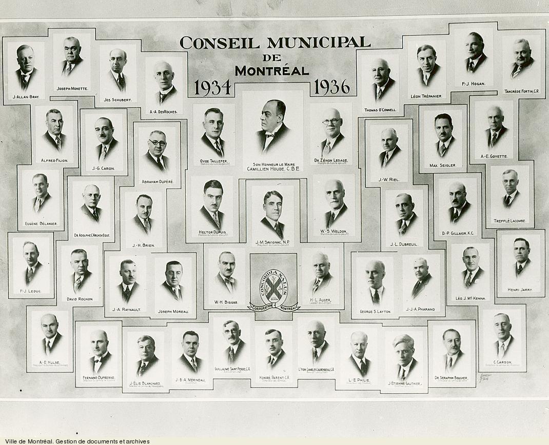 Conseil municipal de Montréal de 1934-1936. VM6,S10,D015.22-5