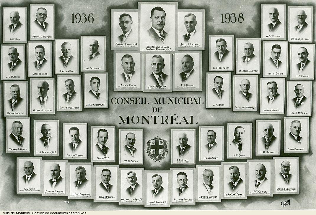 Conseil municipal de Montréal de1936-1938. VM6,S10,D015.22-5