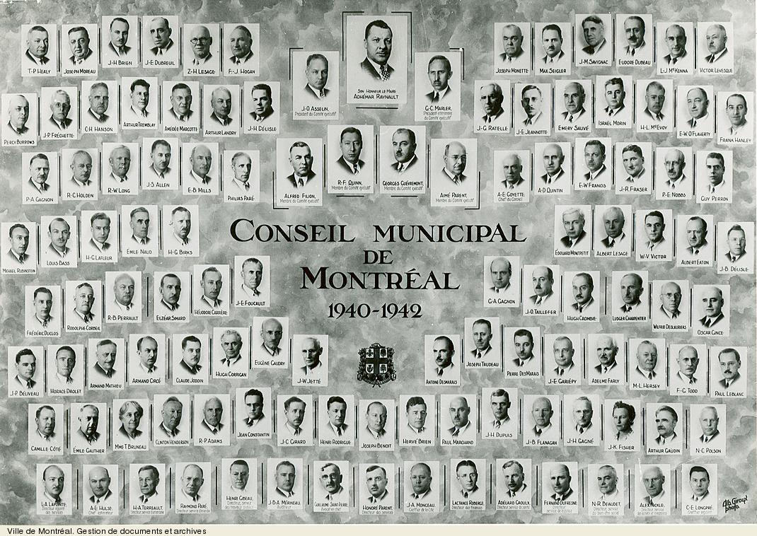 Conseil municipal de Montréal de 1940-1942. VM6,S10,D015.22-5