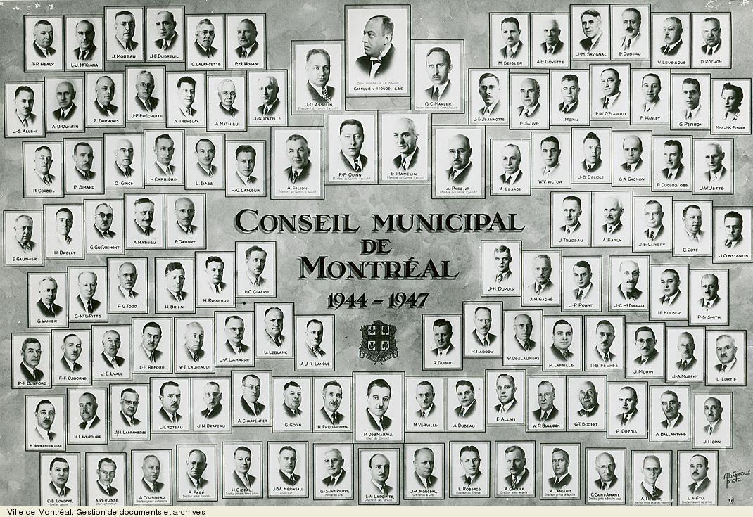 Conseil municipal de Montréal de 1944-1947. VM6,S10,D015.22-5