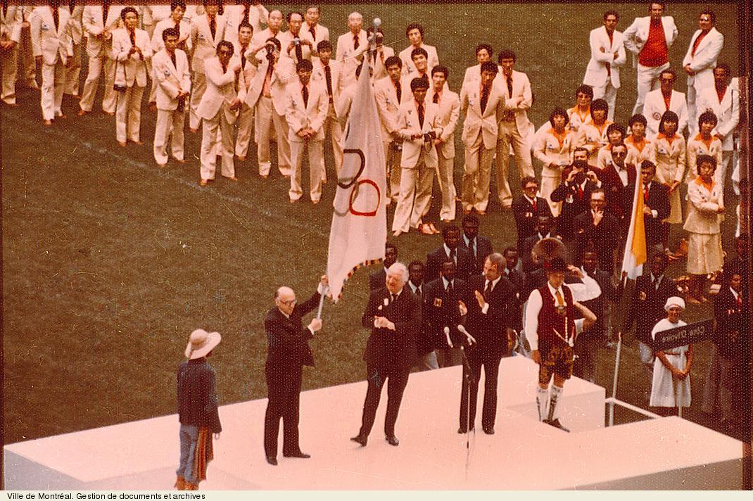 Ouverture des Jeux de la XXIe olympiade, 17 juillet 1976. VM94,O70-4