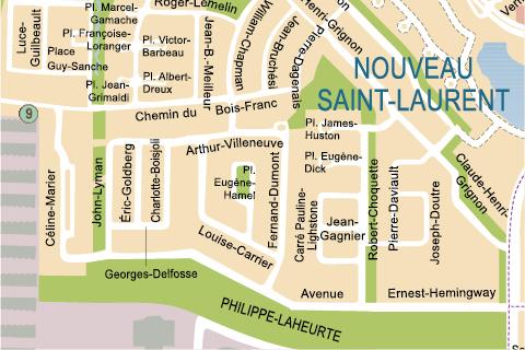 History of SaintLaurent The territory