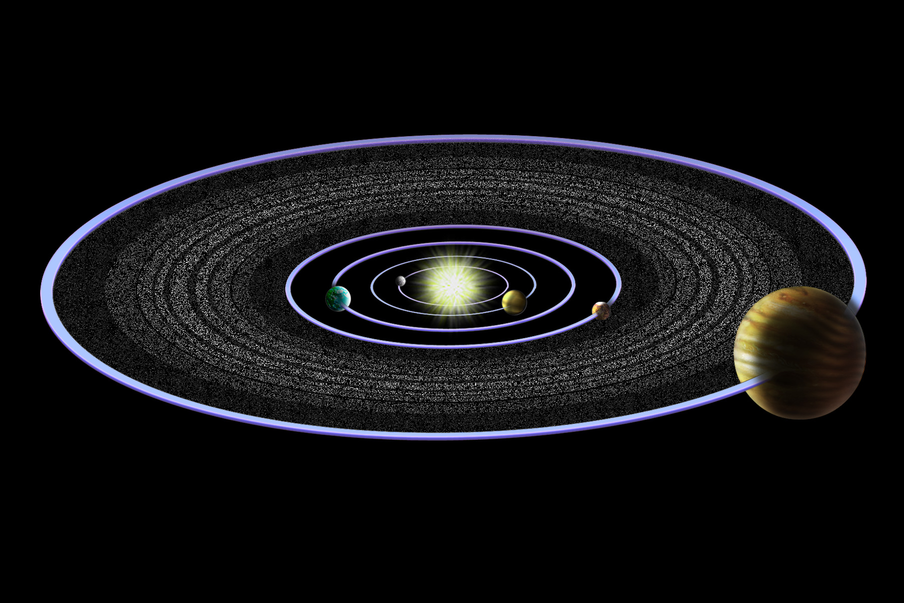 the diameter of asteroid belt - photo #38